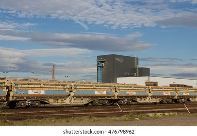 DONCASTER, SOUTH YORKSHIRE, UK - AUGUST 31, 2016. Network Rail's Doncaster depot is a busy infrastructure yard that is strategically located to provide trains and materials for the UK's HS2 project.