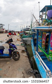 DONDRA - SRI LANKA - CIRCA 2019 - multiple transportation options at the busy fishing harbour situated on Sri Lanka's most southerly tip