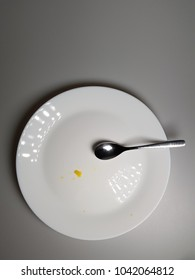 Done Eating Plate with spoon