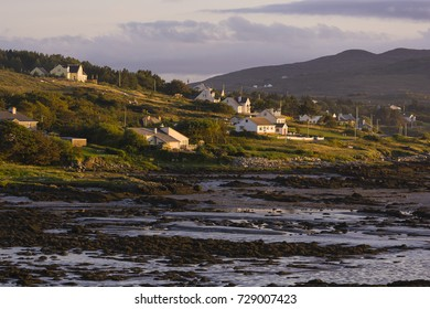 DONEGAL, IRELAND - AUGUST 17, 2006: tidal flats late afternoon.