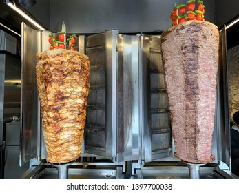 Doner kebab is served as a street food sandwich or a more upscale dish.