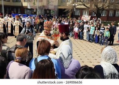 "DONETSK - APRIL 13: Festival ""Easter red"" in Donetsk. April 13, 2015"
