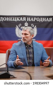 DONETSK, UKRAINE - JUNE 12: Alexey Zhuravlev during the press conference in the Donetsk Regional State Administration on june 12, 2014 in Donetsk.