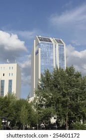 DONETSK, UKRAINE - JUNE 27, 2012: Hotel Center Victoria in Donetsk near Stadium Donbass Arena on June 27, 2012. Many guests Euro 2012 lived in this hotel