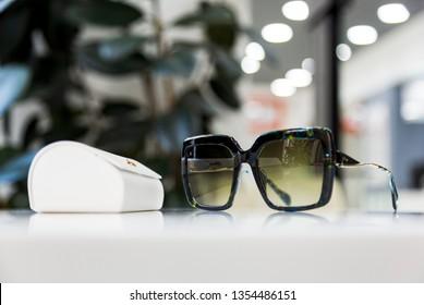 Donetsk, Ukraine - March 18, 2019: Designer Sunglasses by Genny