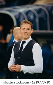 DONETSK, UKRAINE - SEPTEMBER, 19, 2018 - Julian Nagelsmann, manager of Hoffenheim. Group F match of the UEFA Champions League between FC Shakhtar Donetsk and TSG 1899 Hoffenheim at Metalist Stadium