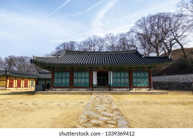 dongheon old government office in haemieupseong fortress in seosan, south korea