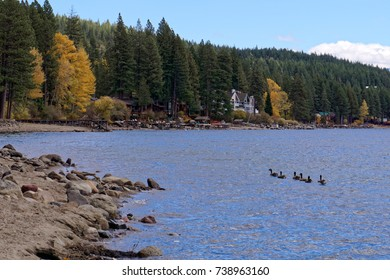 Donner Lake, California in autumn