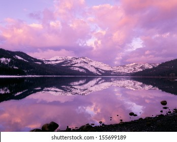 Donner Pass Lake Sunrise