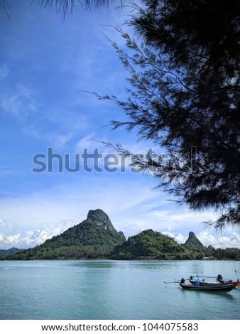 Donsak Tropical Island Thailand Fishing Boat