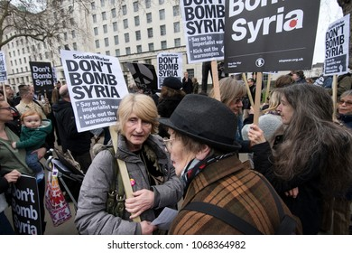 Don't Attack Syria anti-war protest and March outside Downing Street by Stop the War, London, UK 13/04/2018
