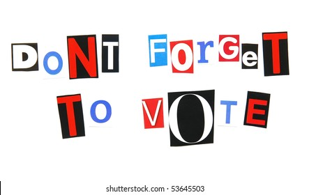 don't forget to vote