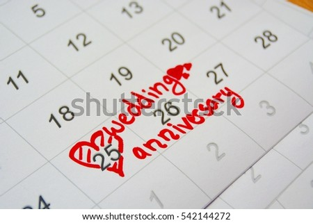 Dont Forget Wedding Anniversary Stock Photo Edit Now 542144272