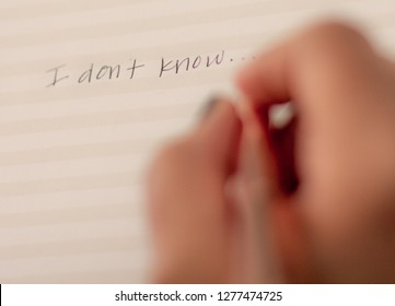 I Don't Know writing