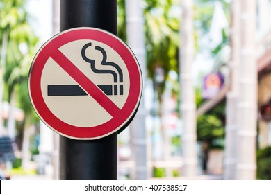 Don't smoke sign