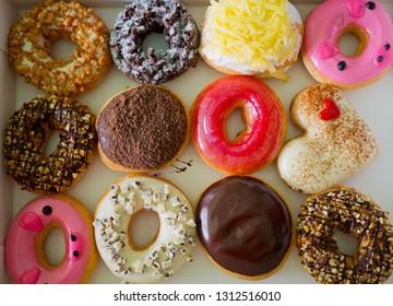 donut background, dessert