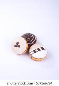 donut or chocolate donut on a background