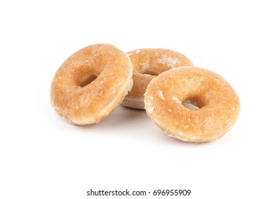 Donut isolated on white background, studio shoot