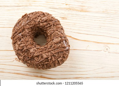 donut on wooden background