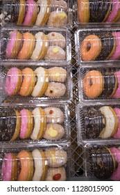 donut in plastic box