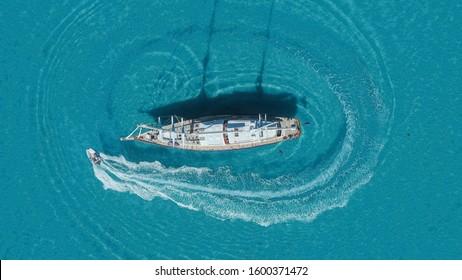 Donuts Around the Super Yacht