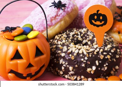 donuts with gourd filled with smarties