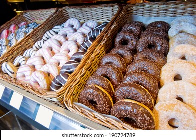 donuts for sale in the shop at the bazaar