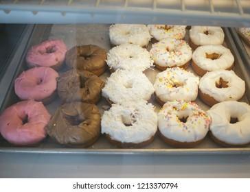 Donuts at a shop