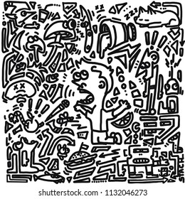 Doodle abstract art