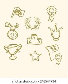 doodle award set