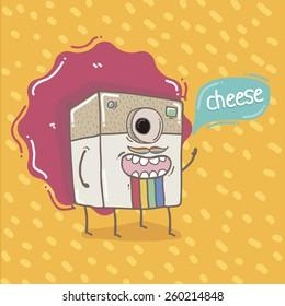 Doodle camera smiling