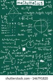 doodle maths seamless pattern
