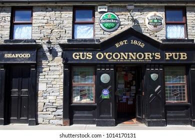 Doolin (Ireland), - July 20, 2016: Gus O'Connor's Pub, Doolin, Co. Clare, Ireland