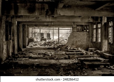 doomsday destruction ruins factory damage