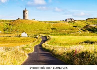 Doonegore castle in Doolin, Ireland