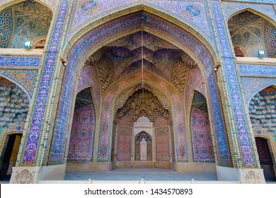 door art of Nasir-ol-Molk or Pink mosque, Sheraz, Iran