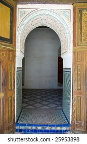 A door of the Bahia Palace in Marrakesh