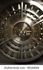 The door of a bank vault.