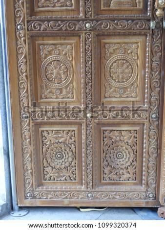 Door carvings hasanamba temple hassan indian stock photo edit now