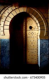 a door in the casbha of tunisi on tunisia