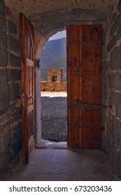 the door in the castle of bellinzona