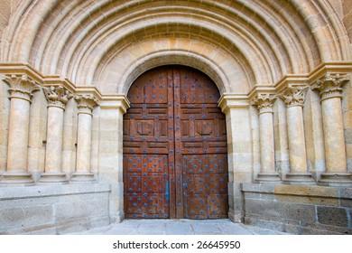 Door of the cathedral of Ciudad Rodrigo, Salamanca (Spain)