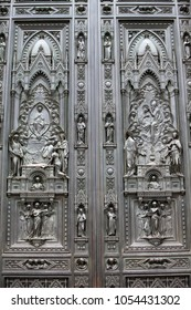 door of Cathedral of Santa Maria del Fiore, Florence, Italy