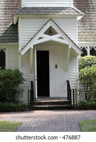 Door to Christ Church at St. Simons Island. Church frequented by presidents Bush, Carter and others