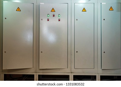 Door of circuit board connection or eletrical panel in modern building