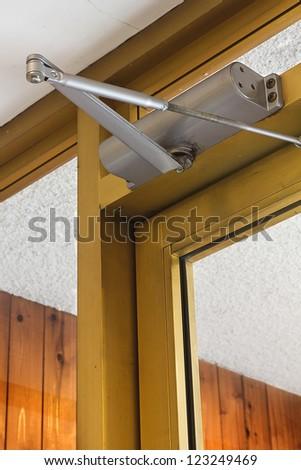 Door Closer Keeps Glass Door Close Stock Photo Edit Now 123249469