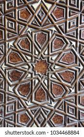 Door detail of The Blue Mosque, (Sultanahmet Camii), Istanbul, Turkey.