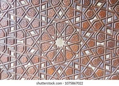 Door detail of Suleymaniye Mosque (Suleymaniye Camisi) in Istanbul, Turkey