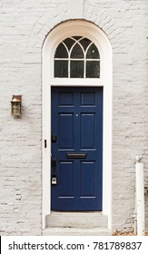 Door in the district of Georgetown in Washington DC, USA