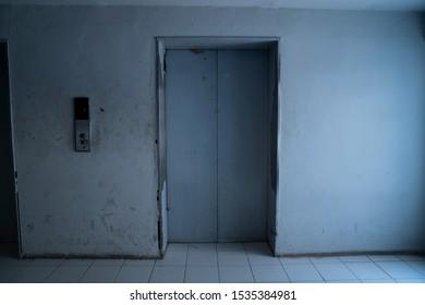 Door to the elevator in a building